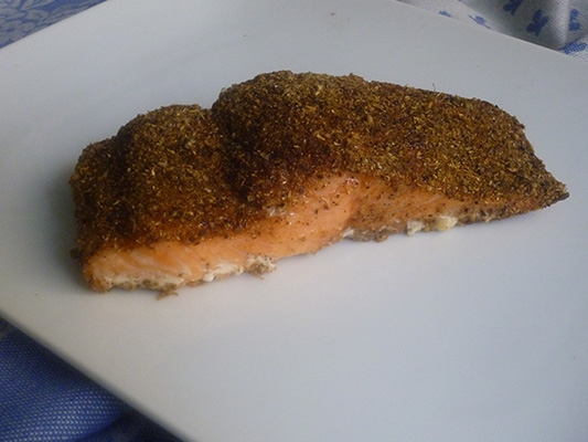 Salmon with Coriander and Black Pepper